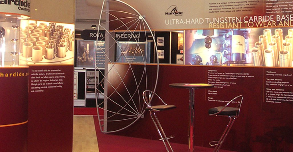 Exhibition Stands Oxfordshire : Exhibition stand design by veucom hardide plc