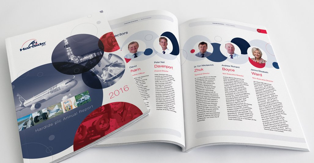 Annual Report Design - Hardide plc 2016