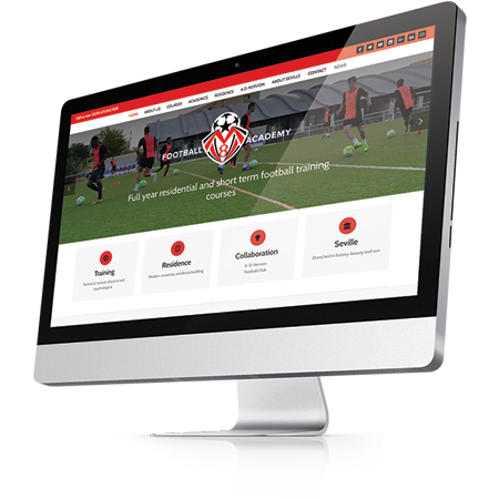 Website Design - MV8 Football Academy