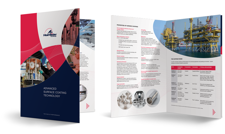 Brochure Design by Veucom - Hardide Coatings
