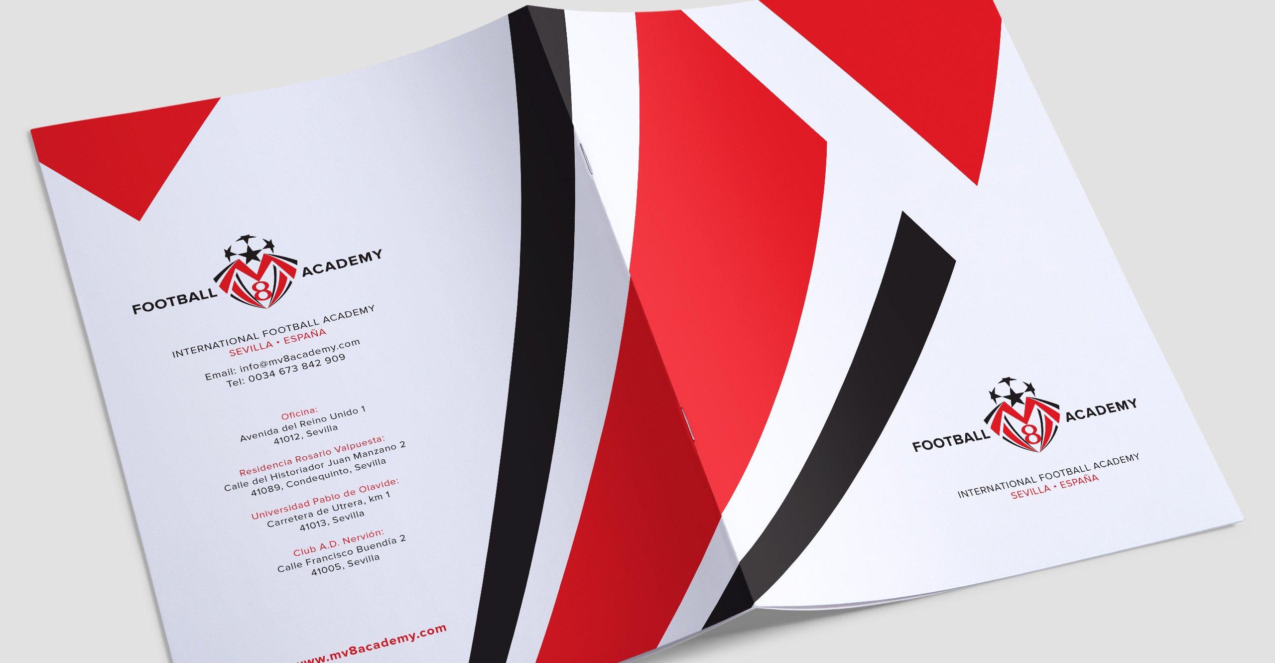 MV8 Football Academy Brochure Design