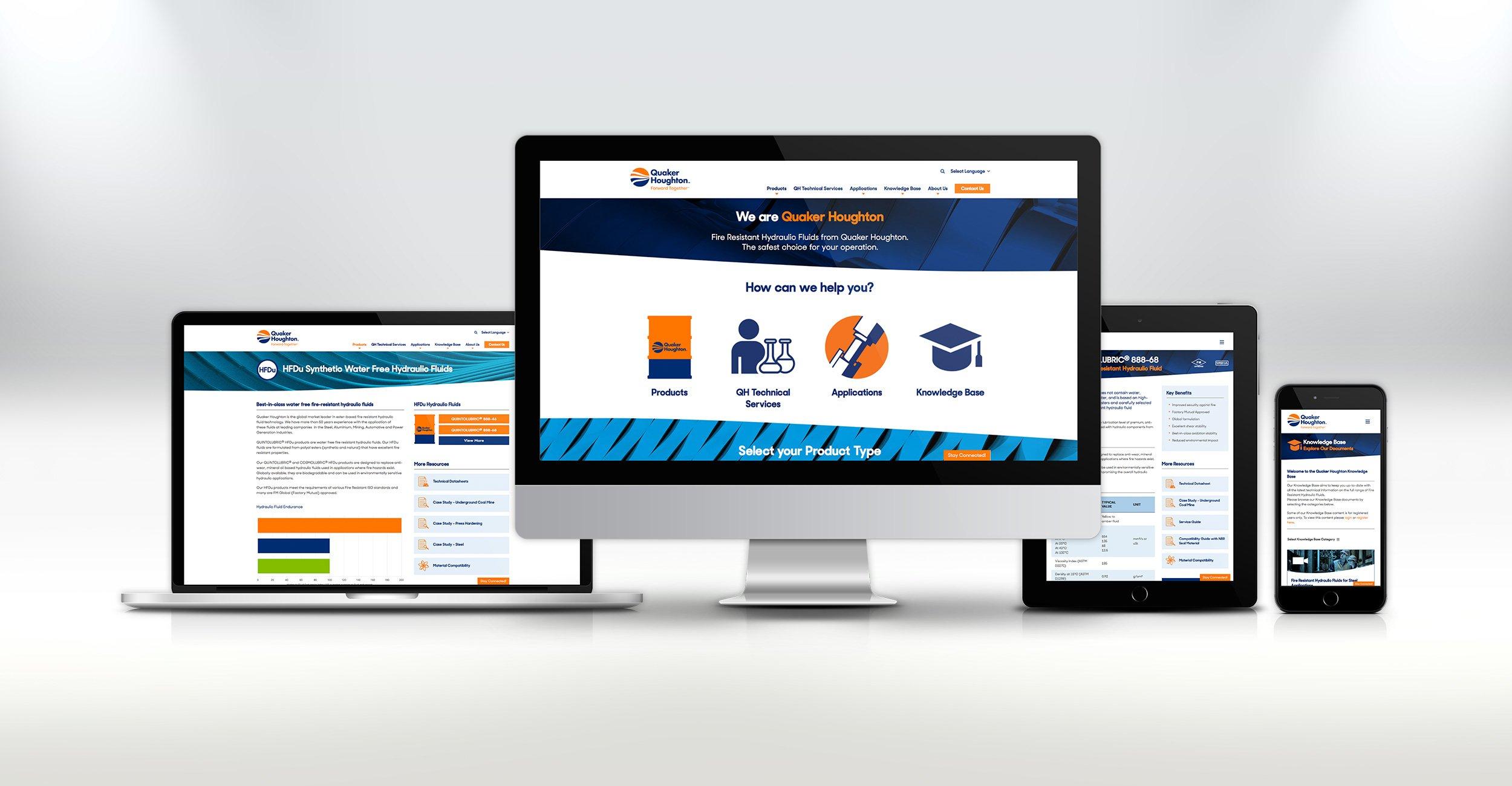 Quaker Houghton Website Design
