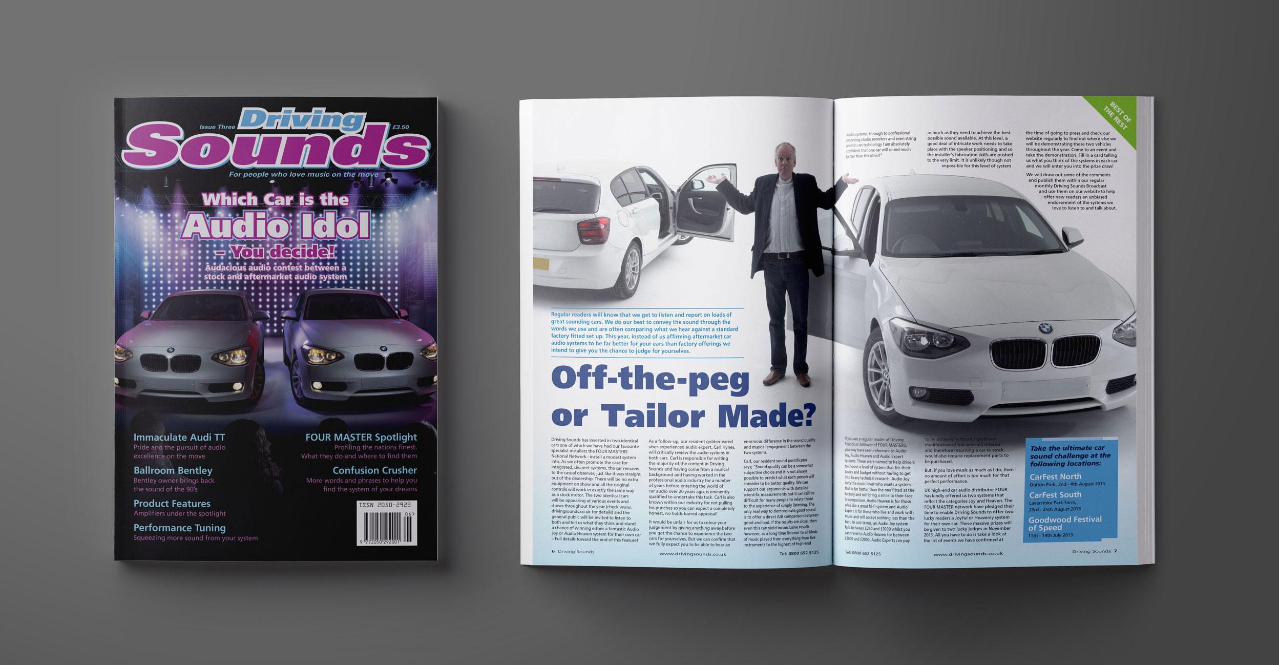 Driving Sounds Magazine Design