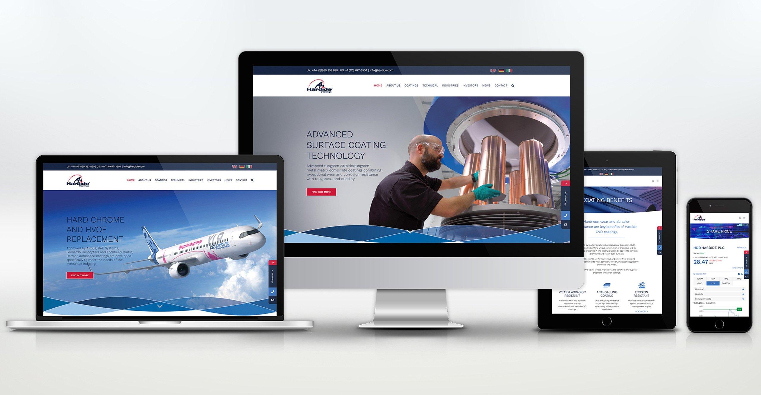 Website Design by Veucom - Hardide Coatings