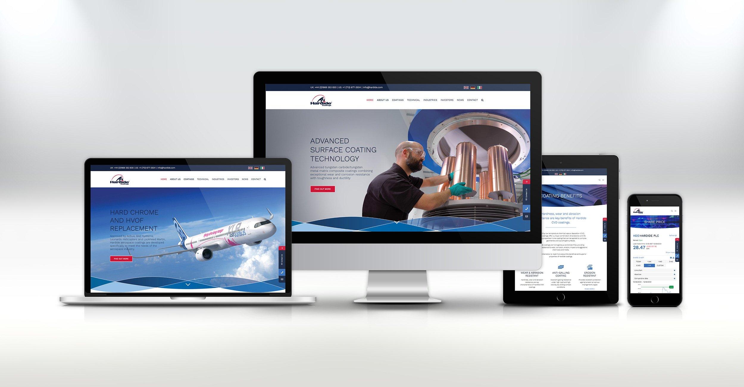 Website Design - Hardide Coatings
