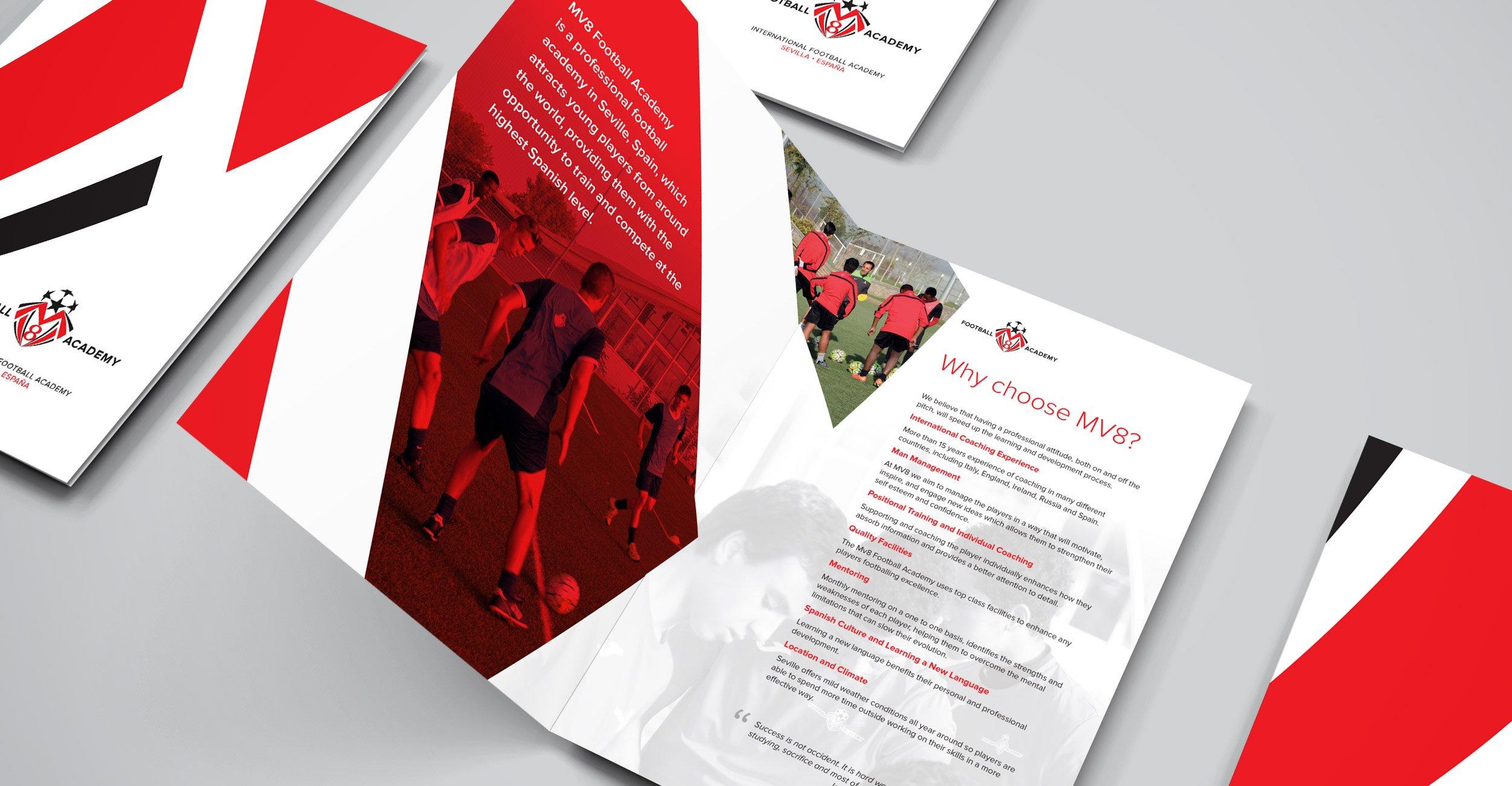 Brochure Design - MV8 Football Academy