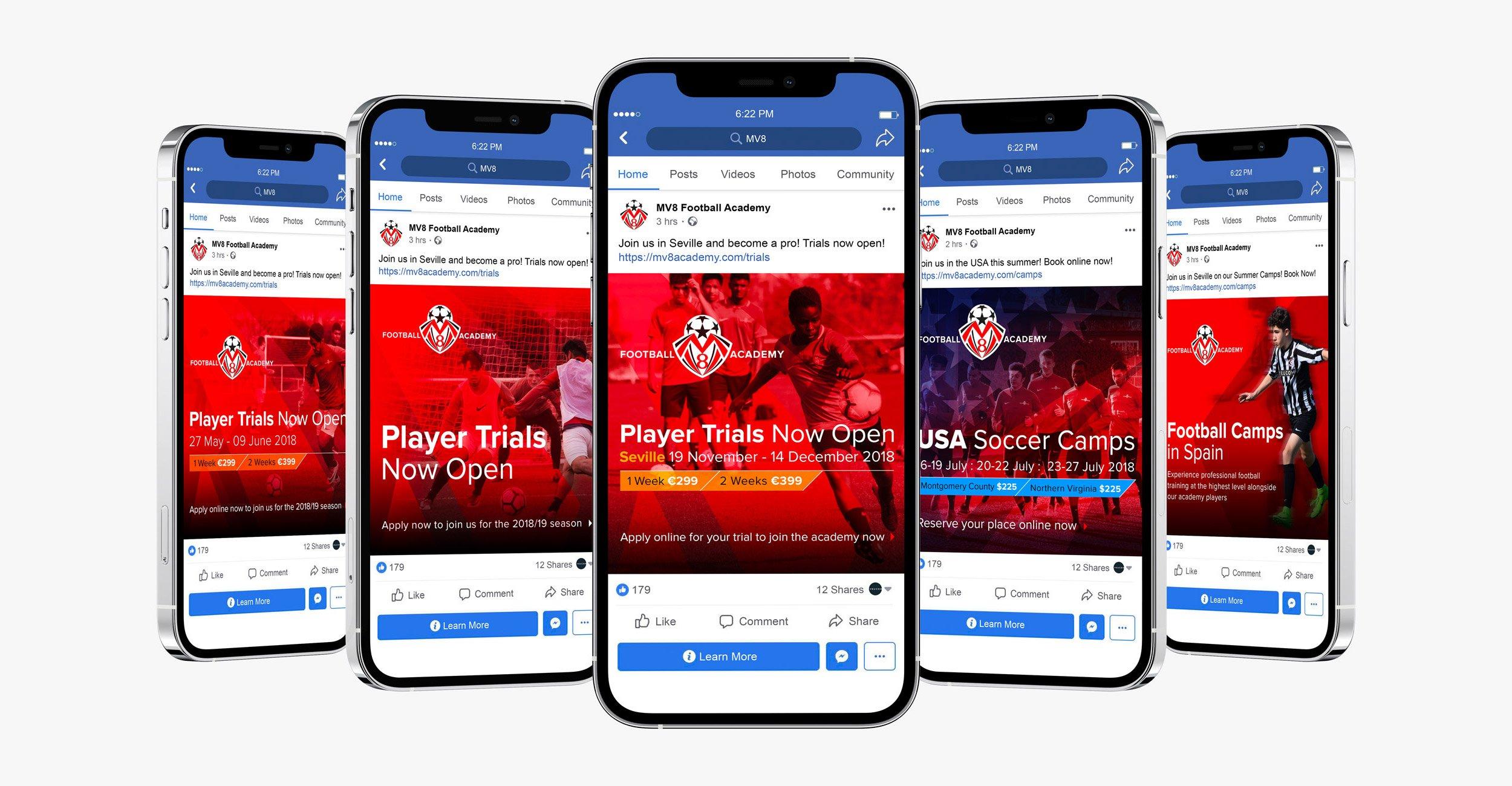 MV8 Football Academy Social Media Advertising