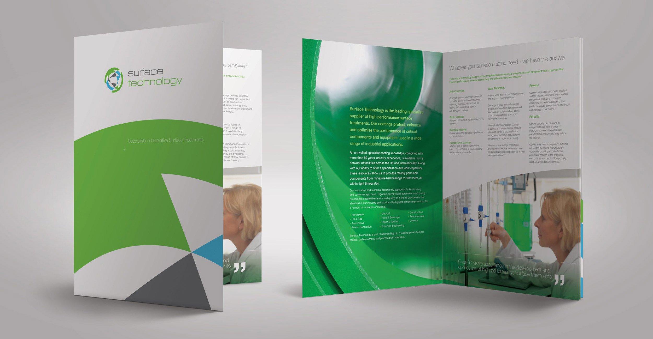 Surface technology Brochure Design