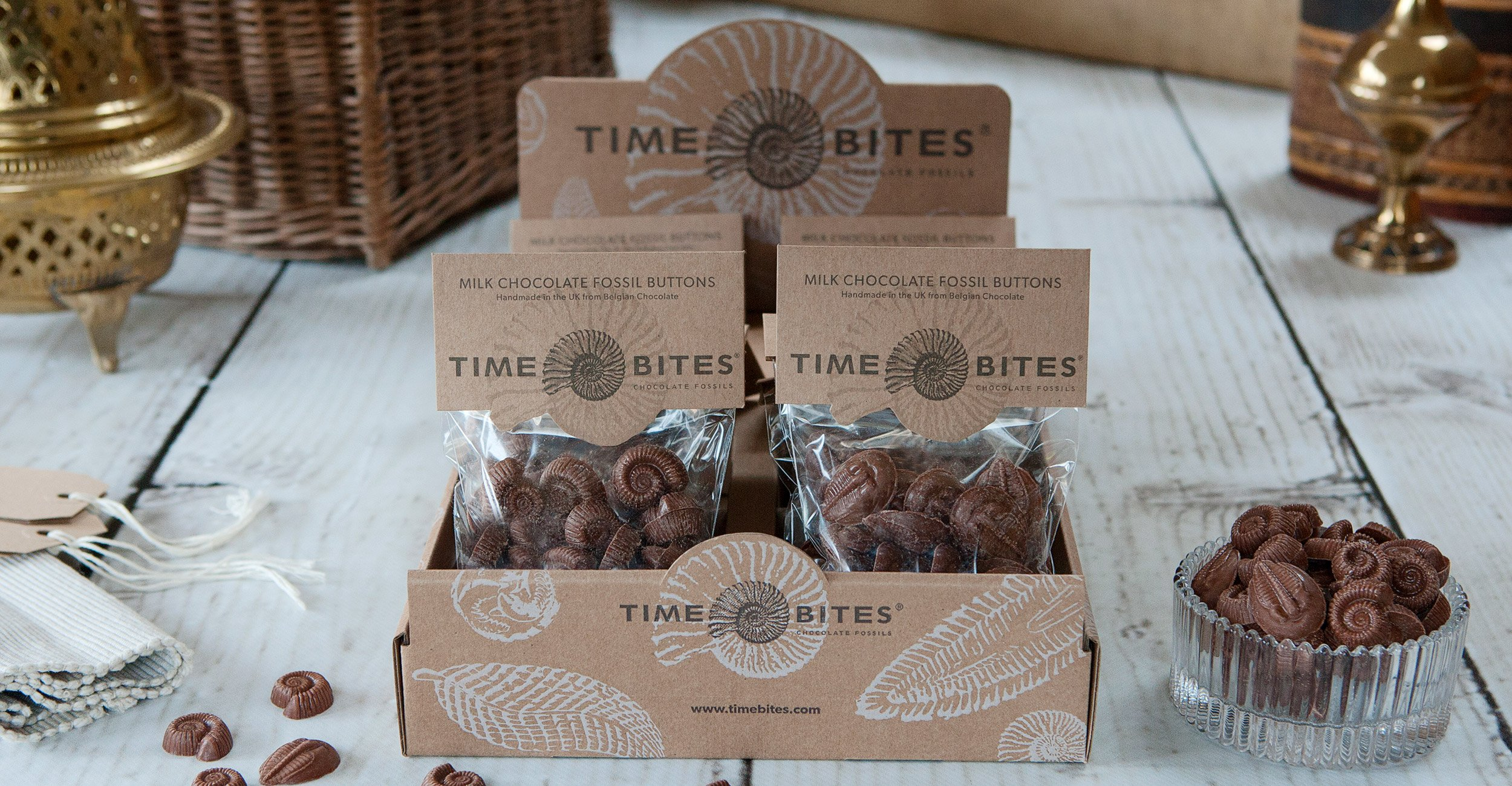 Time Bites Buttons Packaging Design
